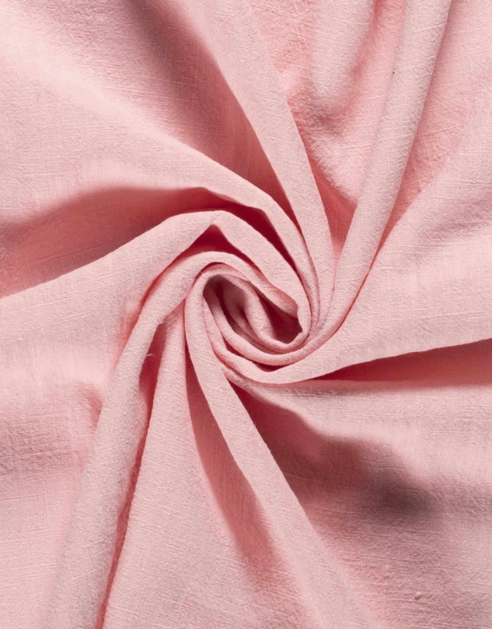 Ramie Linnen Stonewashed - Licht  roze