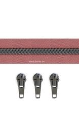 Rits per meter (incl. 3 trekkers) - Gunmetal - Oudroze - Size 6,5