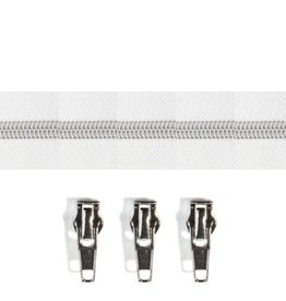 Rits per meter (incl. 3 trekkers) - Zilver- Wit- Size 6,5