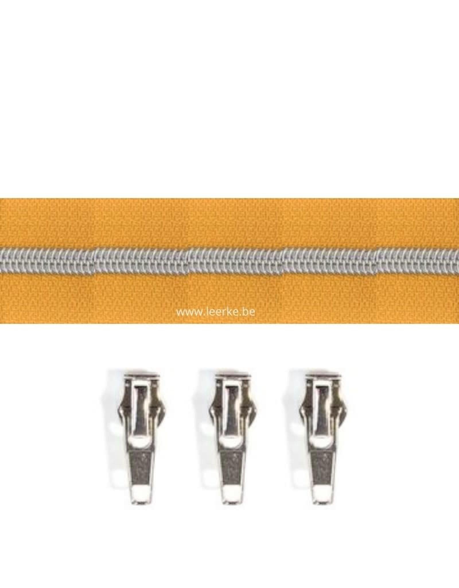 Rits per meter (incl. 3 trekkers) - Zilver- Eigeel - Size 6,5