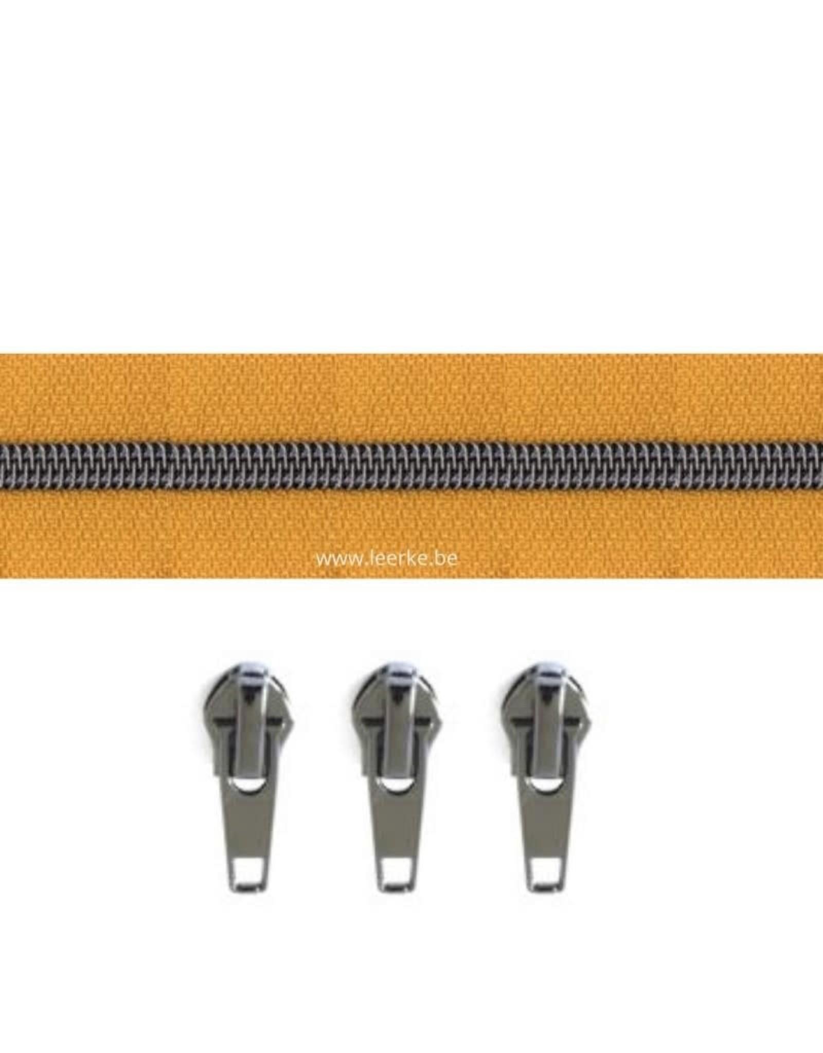 Rits per meter (incl. 3 trekkers) - Gunmetal - Eigeel- Size 6,5