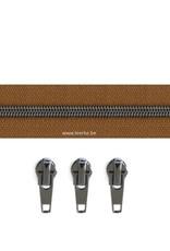 Rits per meter (incl. 3 trekkers) - Gunmetal - Camel- Size 6,5