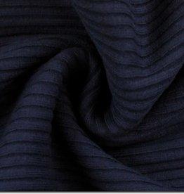 Grove Ribboordstof - Marineblauw