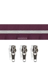Rits per meter (incl. 3 trekkers) - Zilver- Paars - Size 6,5