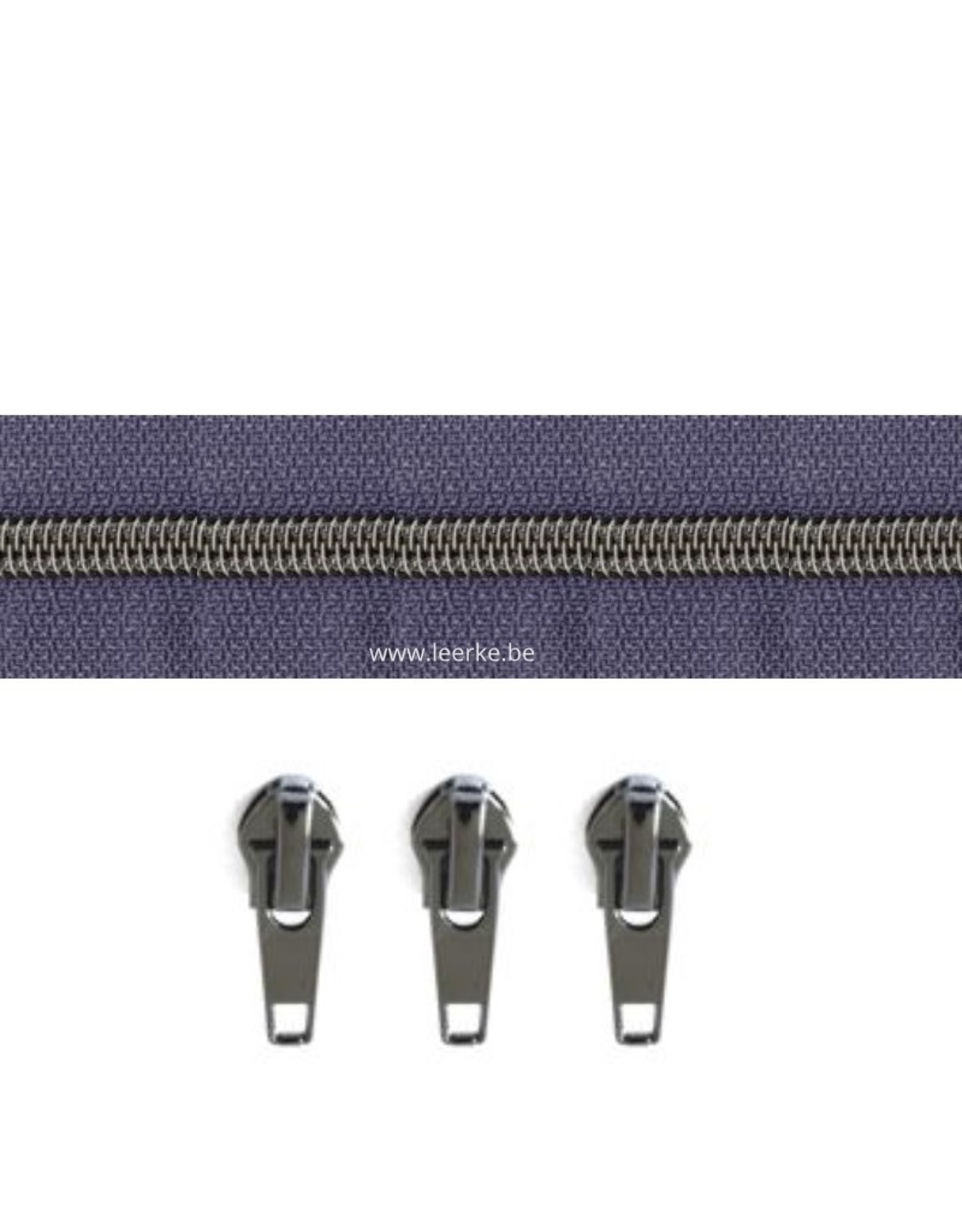Rits per meter (incl. 3 trekkers) - Gunmetal - Bosbes - Size 6,5