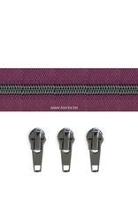 Rits per meter (incl. 3 trekkers) - Gunmetal - Purpurea- Size 6,5