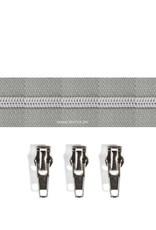 Rits per meter (incl. 3 trekkers) - Zilver- Grijs - Size 6,5