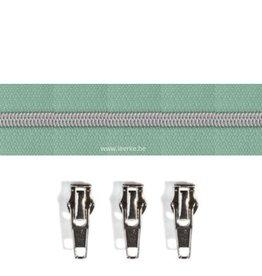 Rits per meter (incl. 3 trekkers) - Zilver- Mint - Size 6,5