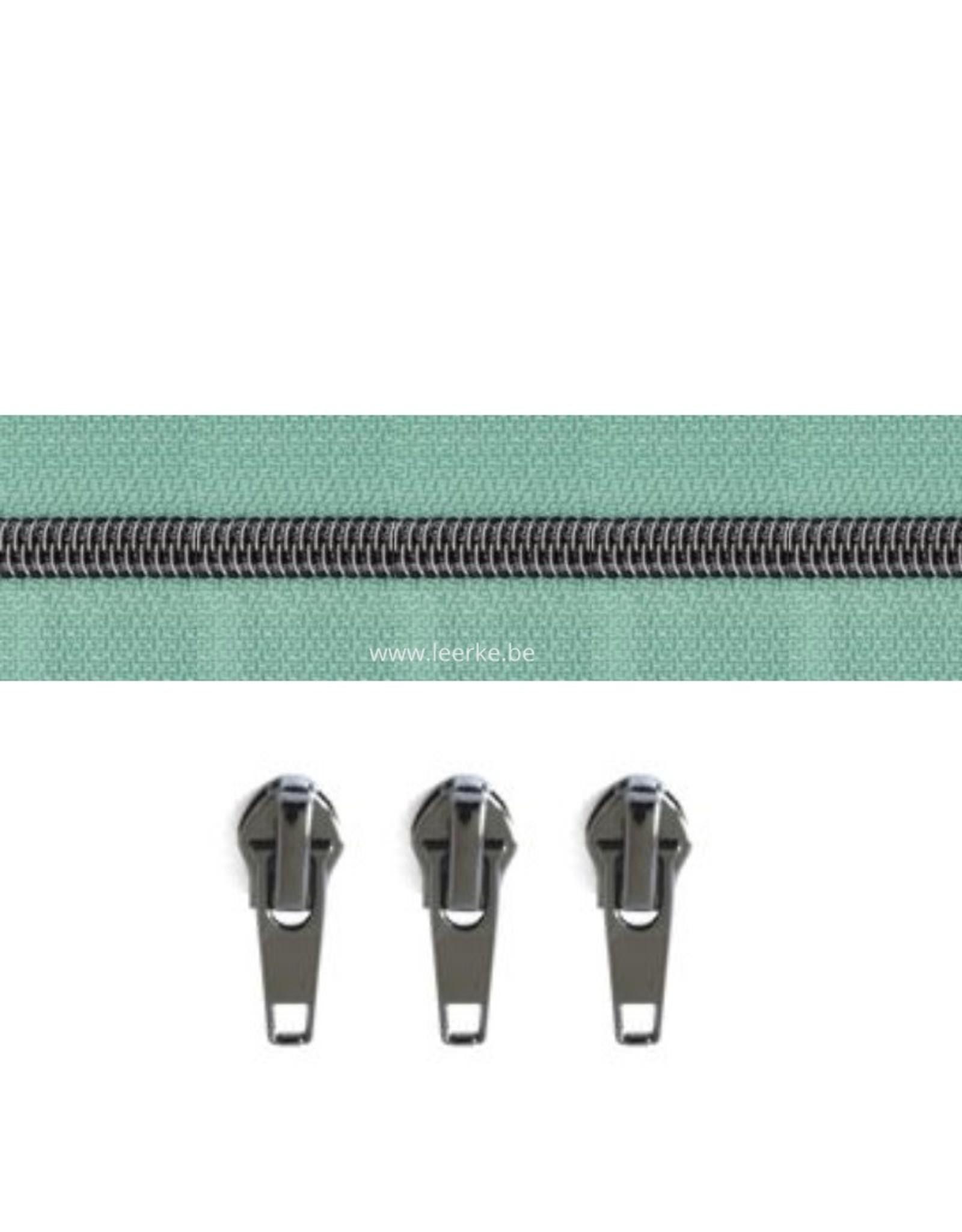 Rits per meter (incl. 3 trekkers) - Gunmetal - Mint - Size 6,5