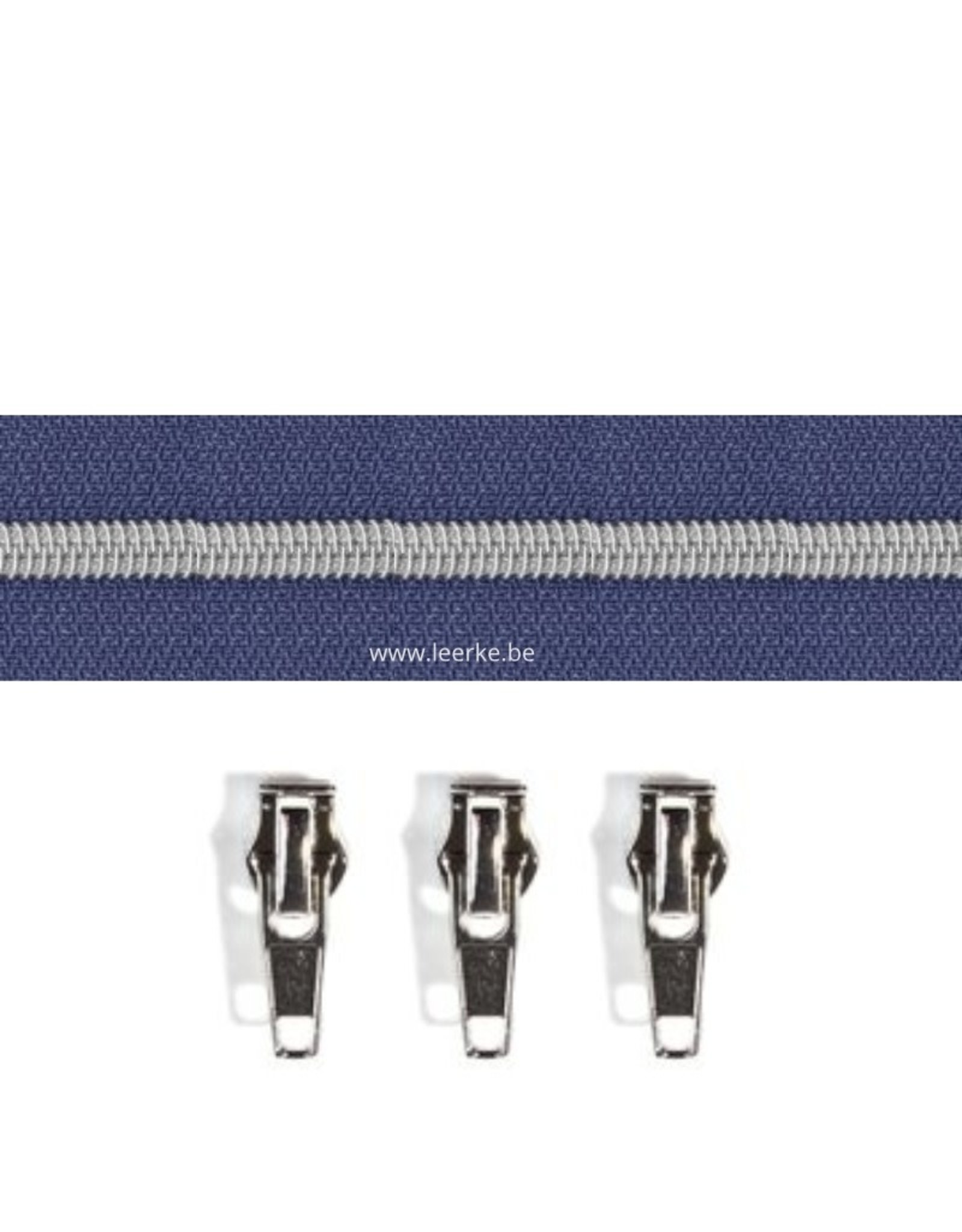 Rits per meter (incl. 3 trekkers) - Zilver- Blauw- Size 6,5