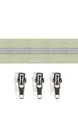 Rits per meter (incl. 3 trekkers) - Zilver- Frittilaria - Size 6,5
