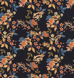 Viscose Twill - Floralia Indigo
