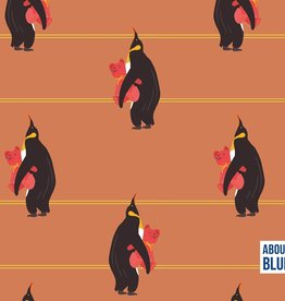 GOTS French Terry About Blue - Pinguins Bedtime