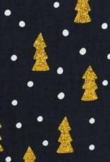 Katoen - Kerstboom Gold