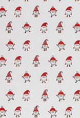 Katoen - Cute Gnomes White