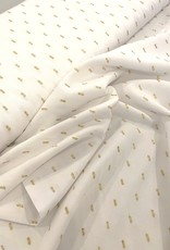 Viscose - Drops Lurex White