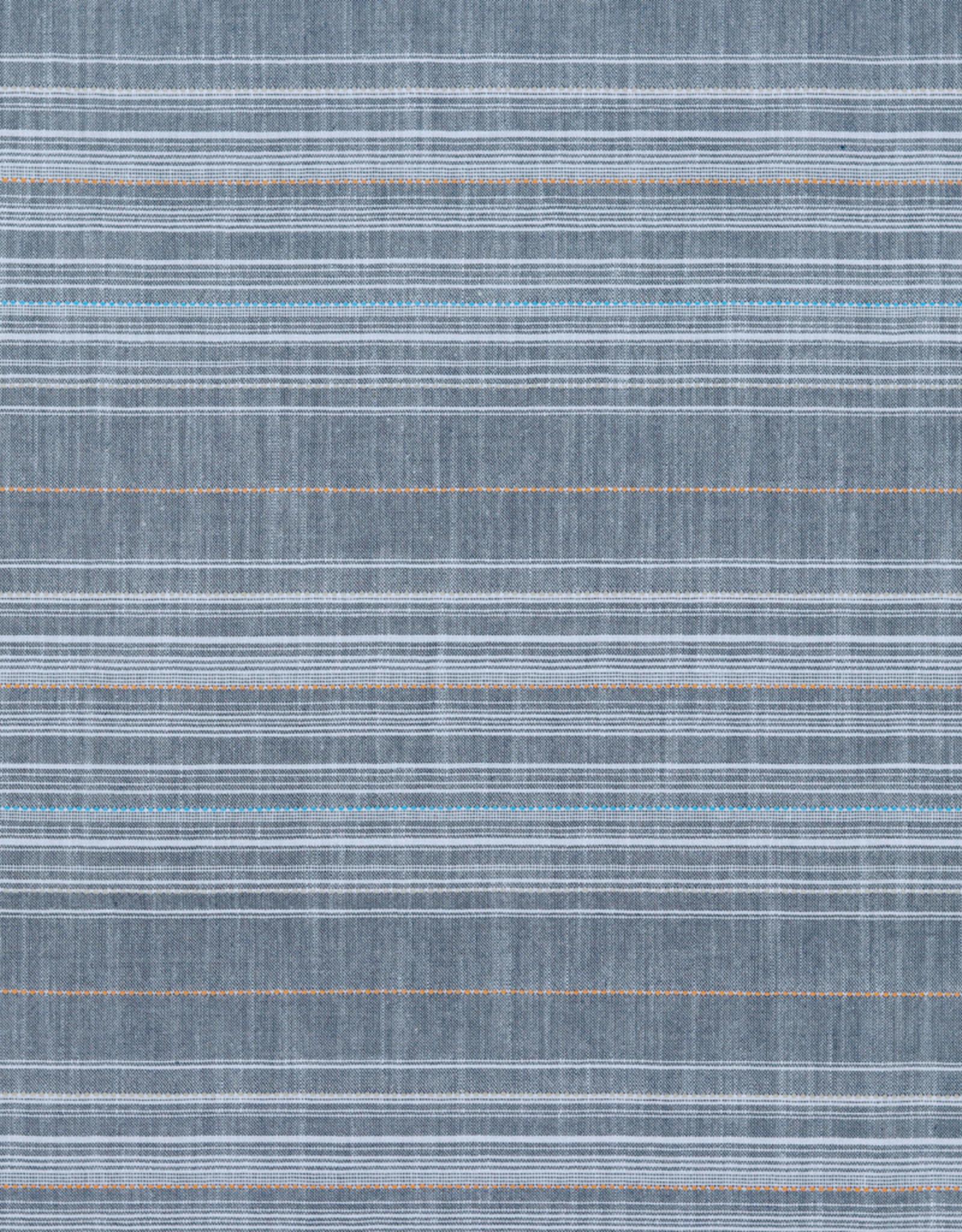 Katoen-Viscose - Chambray Blue