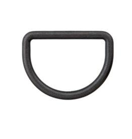D-ring 10mm - Zwart