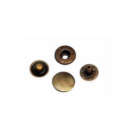 Metalen drukker 12mm - 25 stuks - Brons