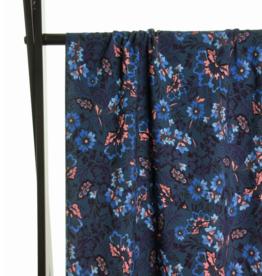 Atelier Jupe Atelier jupe - Blauwe en roze bloemen viscose