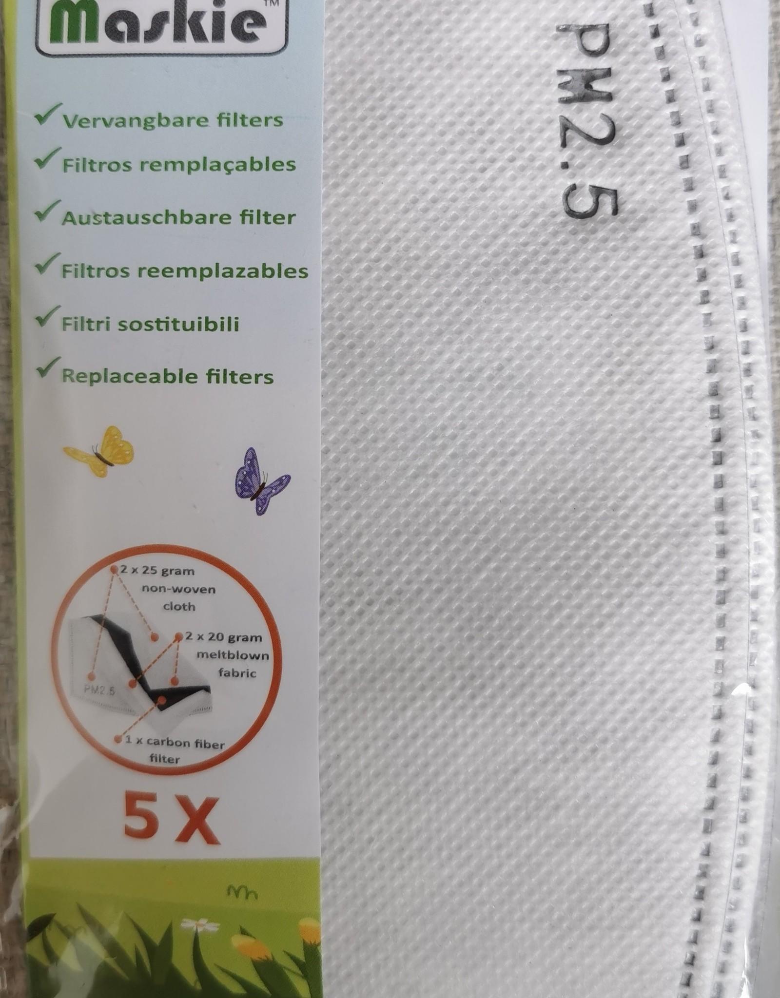 Maskie 5 vervangbare koolstoffilters voor Maskie