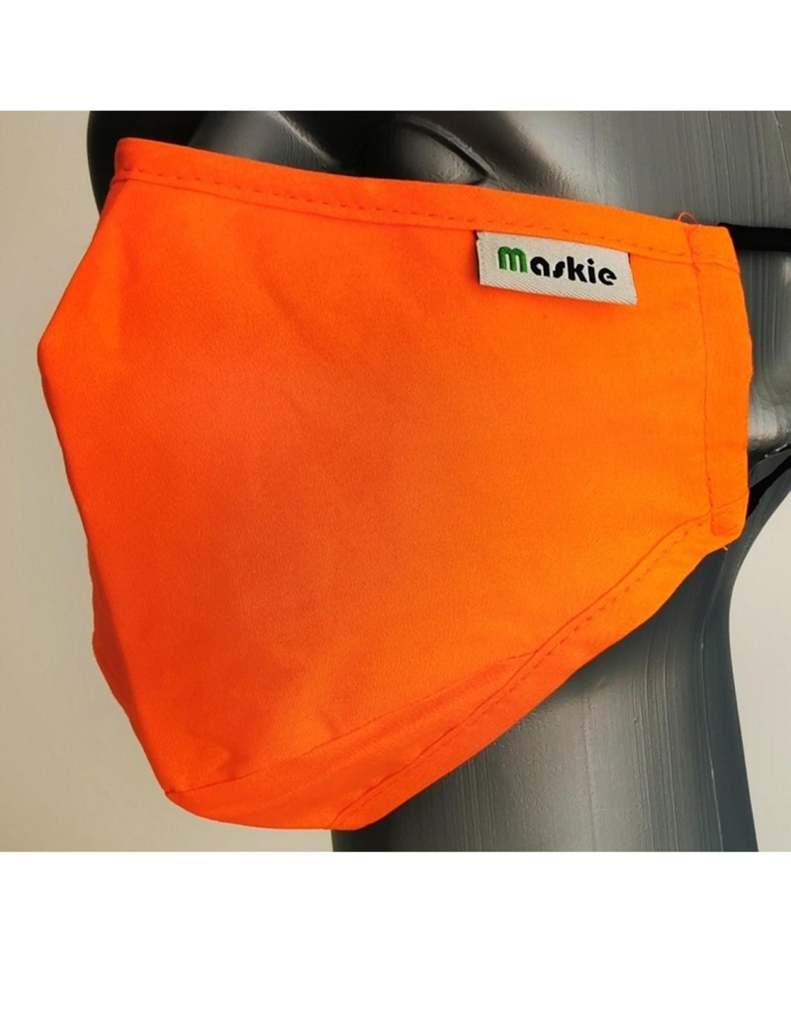 Maskie mondkapje: Effen oranje