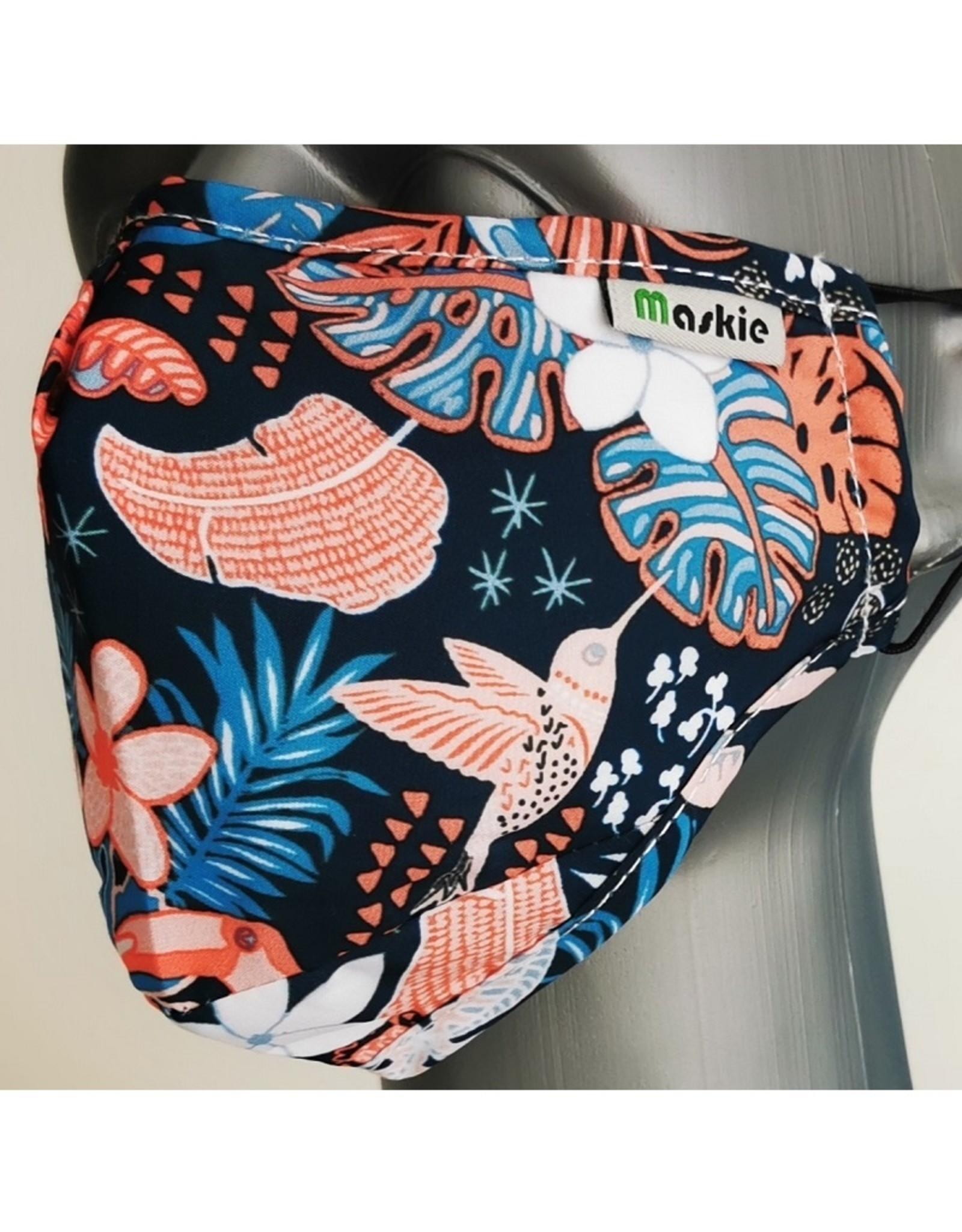 Maskie mondkapje: Jungle Vogels
