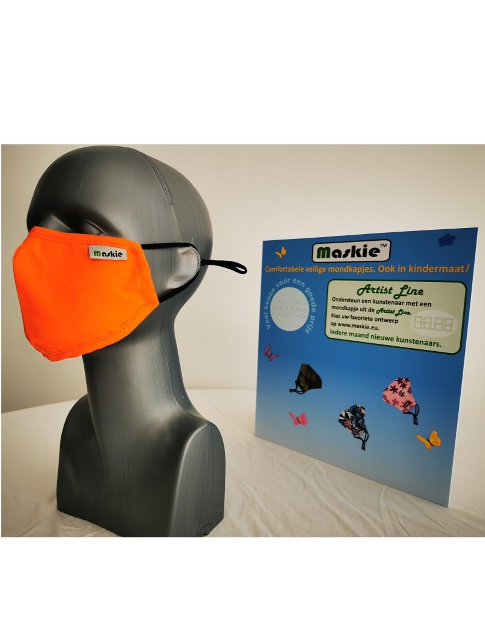 Maskie Buccaux: Orange solide pour des gamins.