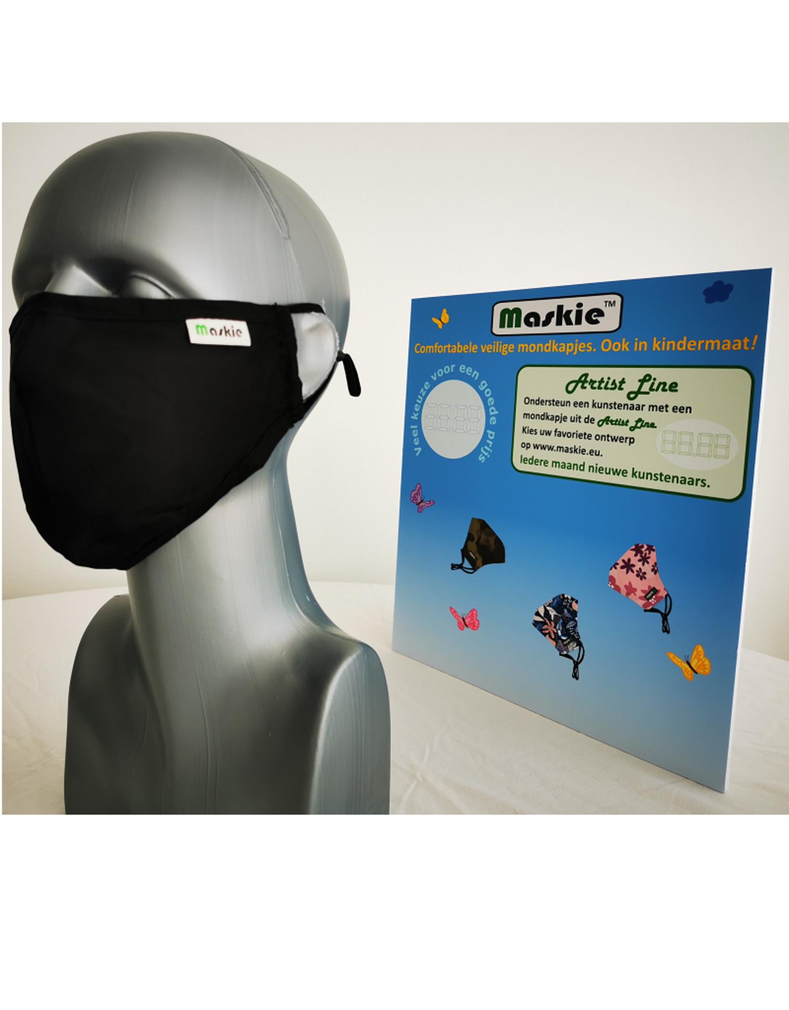 Maskie mask: Solid Black