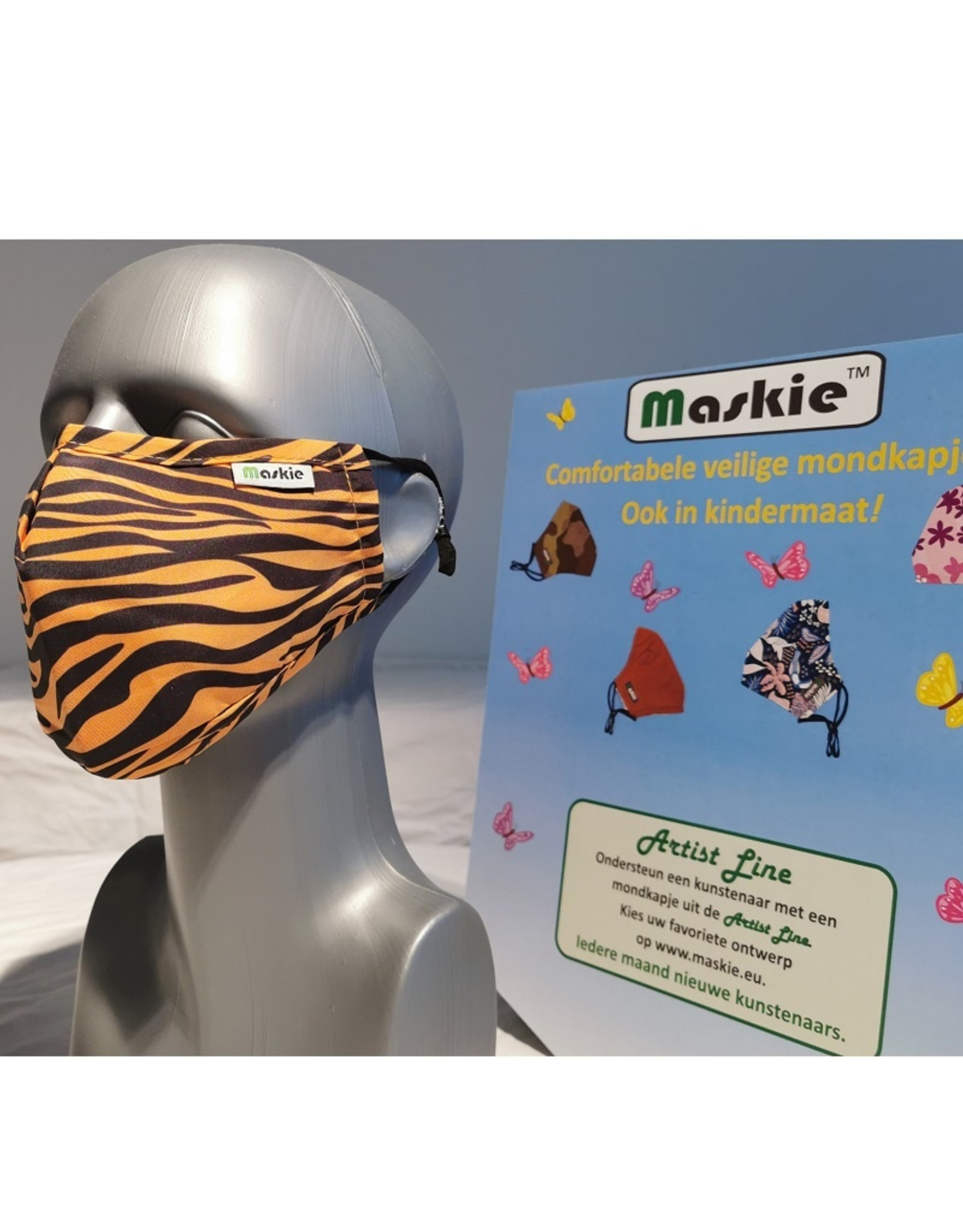 Maskie mask: Tiger