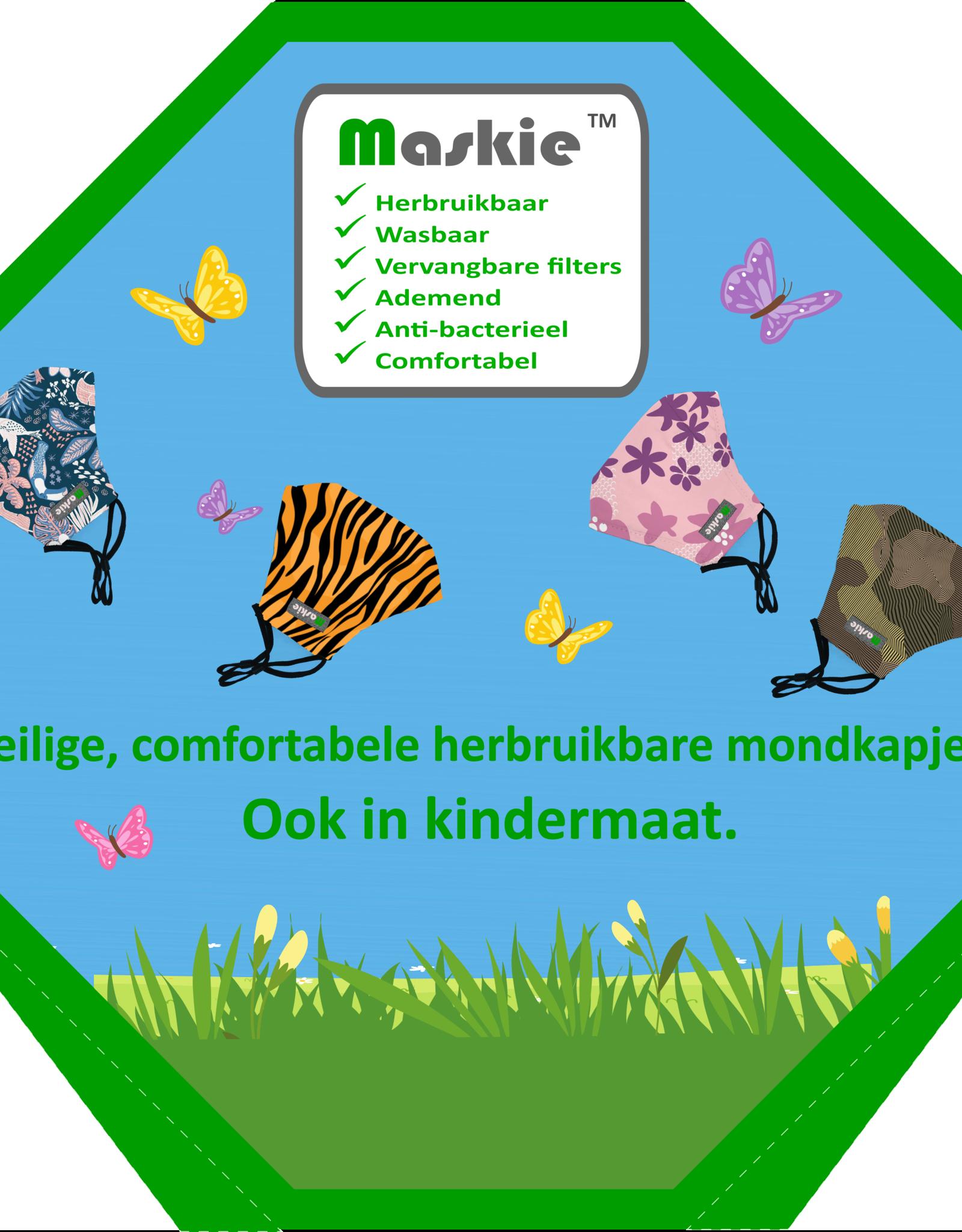 Maskie Maskie Molen - 80 Maskie mondkapjes + BONUS 18 Artist Line (tot 7 november)