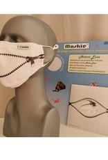 Zipper - mondkapje door Marus en Eelko  van der Made