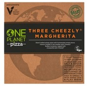 One Planet Pizza Pizza trois fromages végétaliens Margherita (10x)