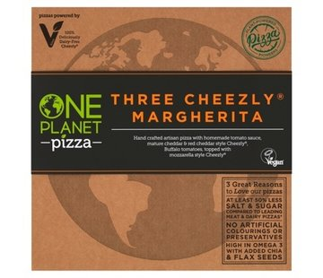 One Planet Pizza Pizza drie veganistische kaas Margherita (10x)