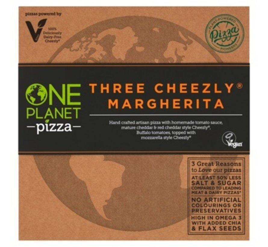 Pizza drie veganistische kaas Margherita (10x)