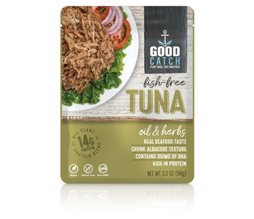 GoodCatch Fish-free tuna, Huile et herbes (20 x 94 g)