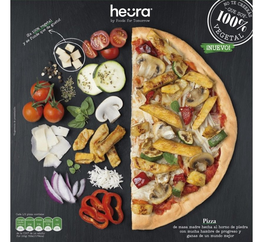 pizza met vegan kipstukjes (6 x 355g)
