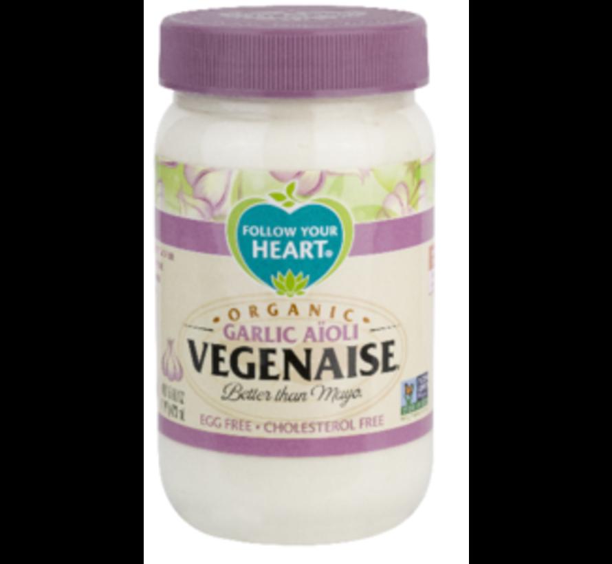 Organic Vegenaise - Garlic Aioli (6 x 340g)
