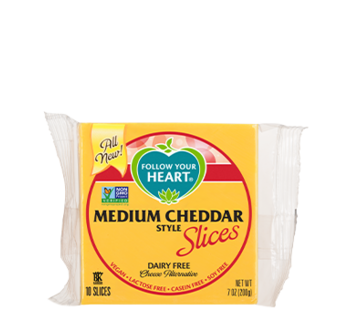 Follow your Heart Medium Cheddar slices (12 x 200g)