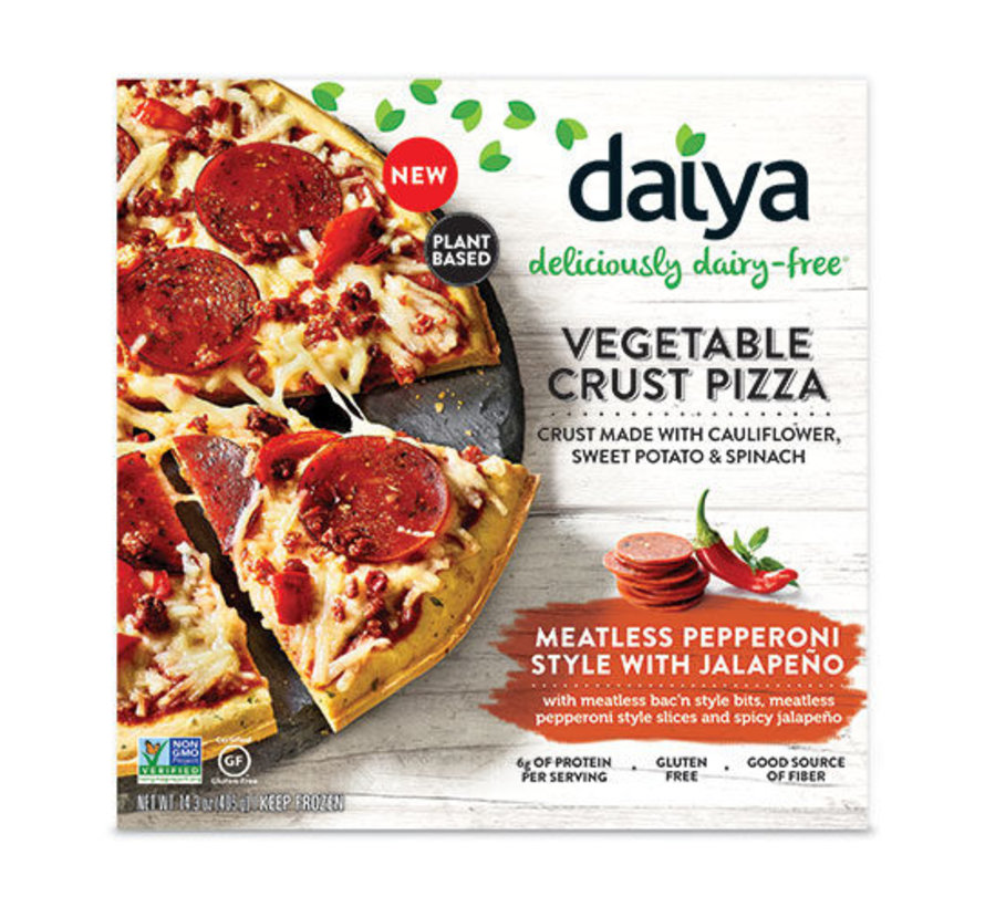Vegetable Crust -  Pepperoni met Jalapeno Pizza (8x)