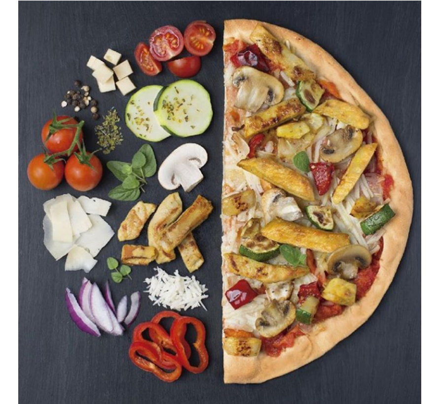 pizza met vegan chicken pieces (6 x 355g)