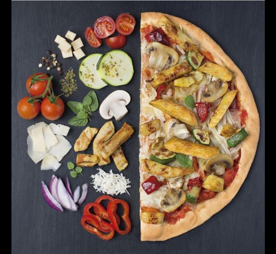 pizza met vegan morceaux de poulet (6 x 355g)