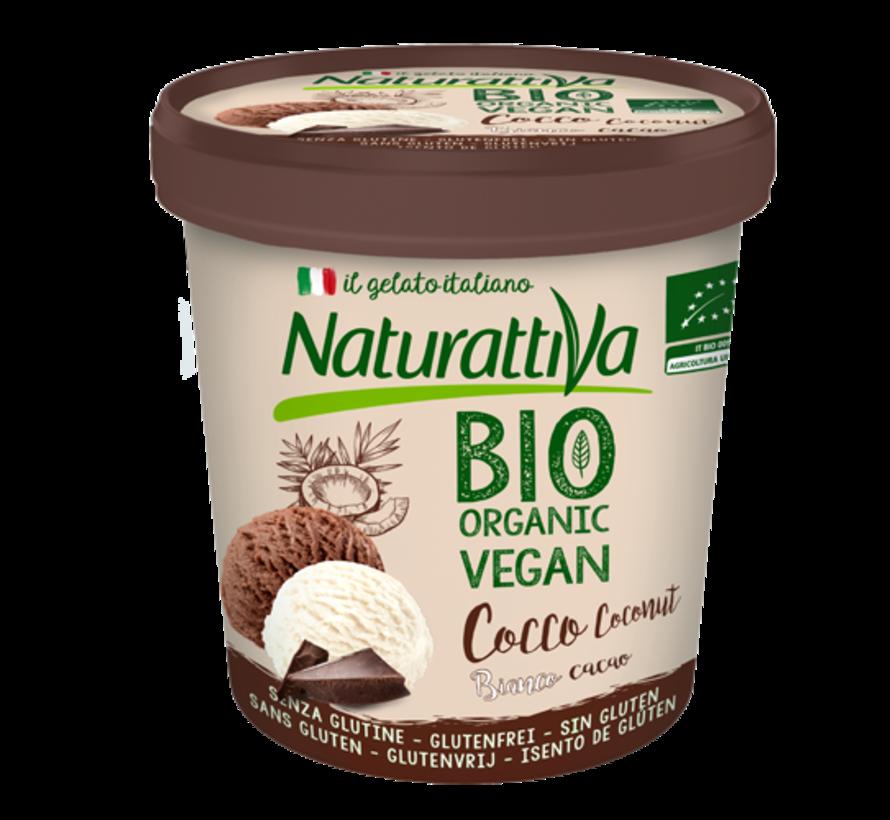 Naturattiva Coconut Tub Plain & Cacao, Organic (6 x 400g)