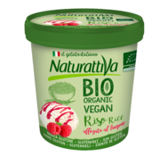 Naturattiva Naturattiva Rice Tub Plain & Rasperry, Organic (6 x 400g)