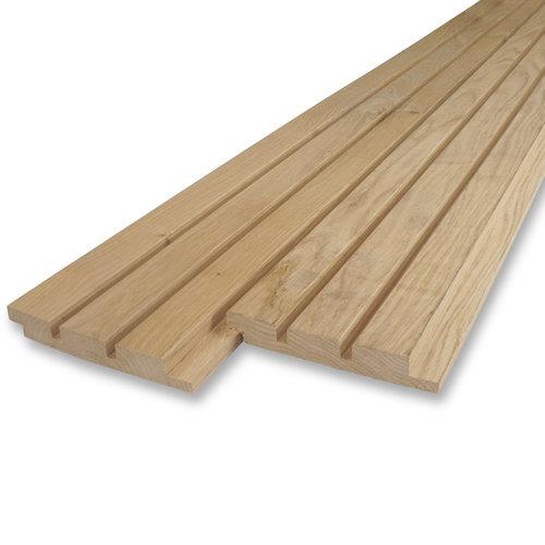 Dänisches Tripel-block Profilholz Eiche- 21x125 mm - Gehobelt - Eichenholz rustikal AD - für den Außenbereich