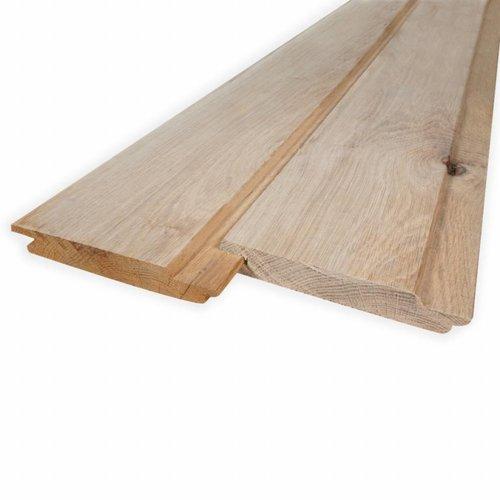 Stülpschalung Nut und Feder Eiche (softline Schrägprofil) - 21x143 mm - Eichenholz rustikal AD - für den Außenbereich