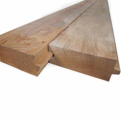 Spundbohlen Eiche (Nut und Feder) - 45x135 - Gehobelt - Eichenholz rustikal AD - für den Außenbereich