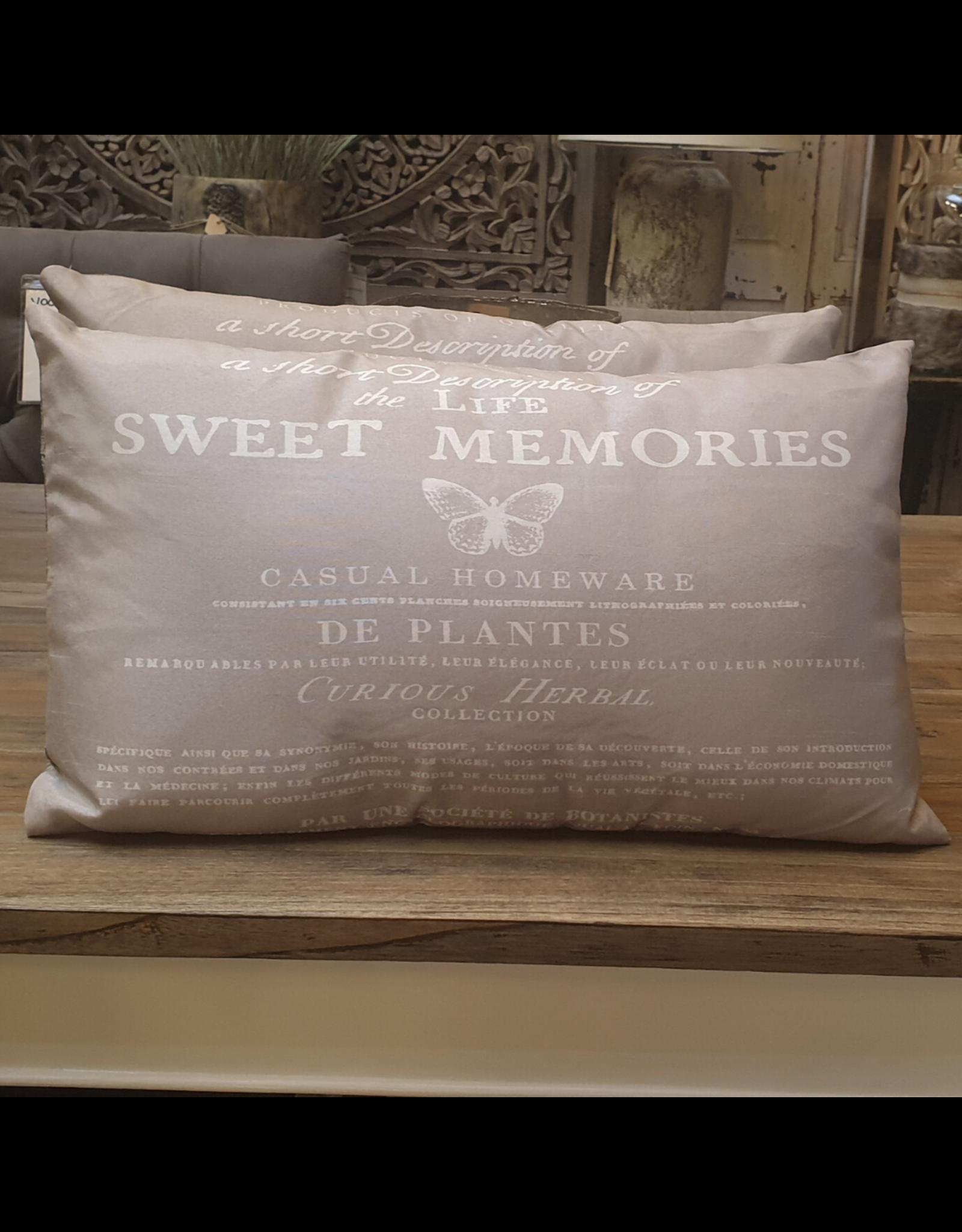 Atelier De Brocante Opkamer B.V. Landelijk kussen sweet memories