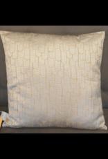 Atelier De Brocante Opkamer B.V. Kussen beige  zilver schubben