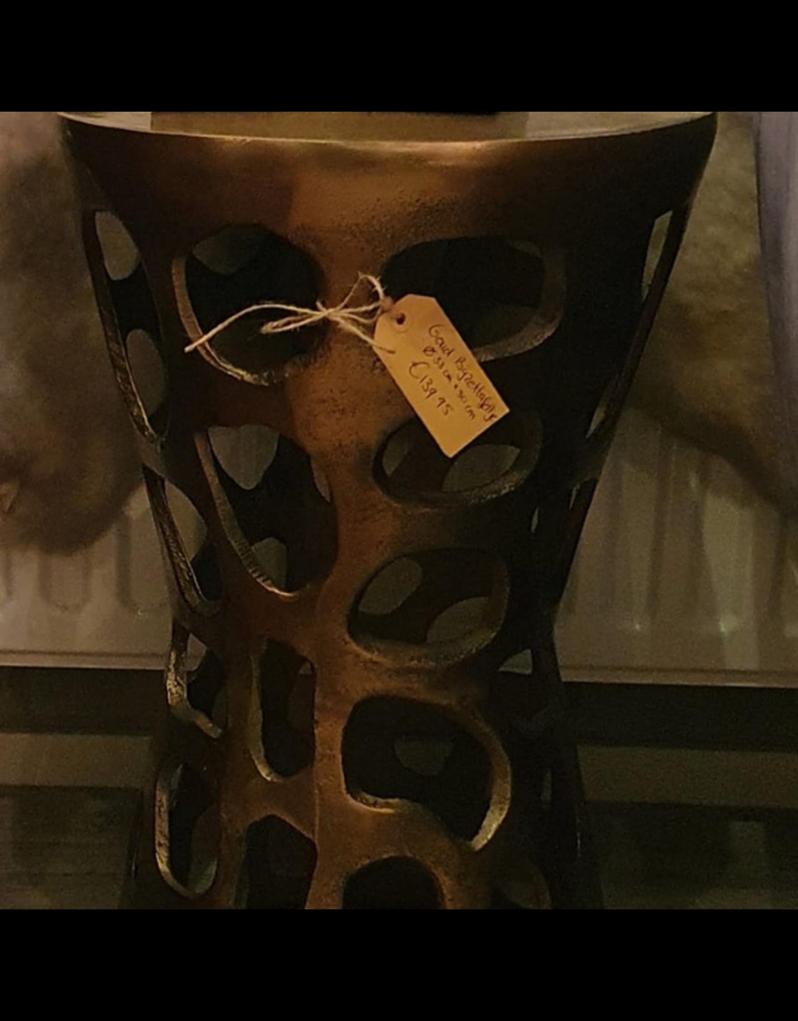 Atelier De Brocante Opkamer B.V. Bijzettafel rond goud